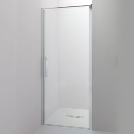 Recessed pivot door