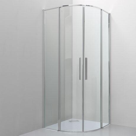 Quadrant with two pivot doors
