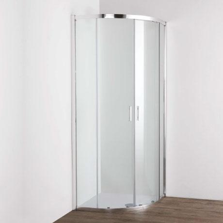 Quadrant with two sliding doors