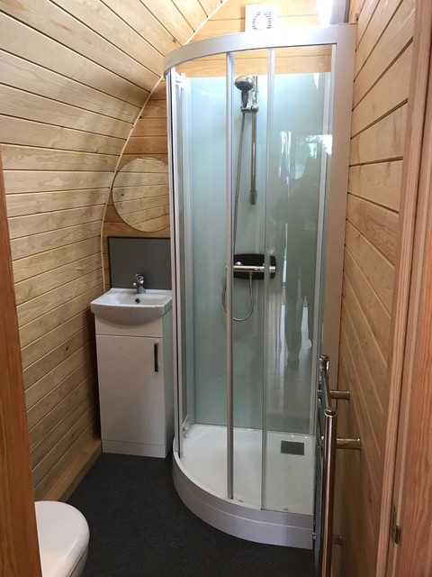 Kineprime glass in Futurerooms pod at Glamping show 1