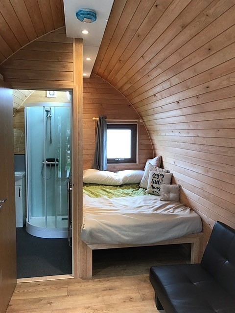 Kineprime glass in Futurerooms pod at Glamping show 21